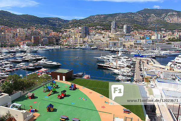 France  French riviera. Monte Carlo. The harbor.