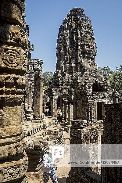 Bayon temple  Angkor Thom  Angkor  Siem Reap  Cambodia.