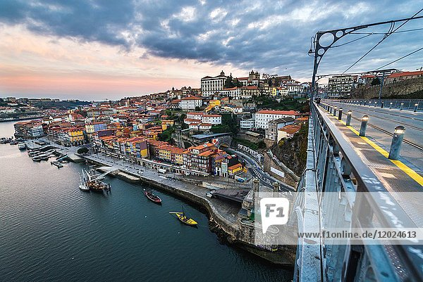 Aerial view in Porto city on Iberian Peninsula  second largest city in Portugal.
