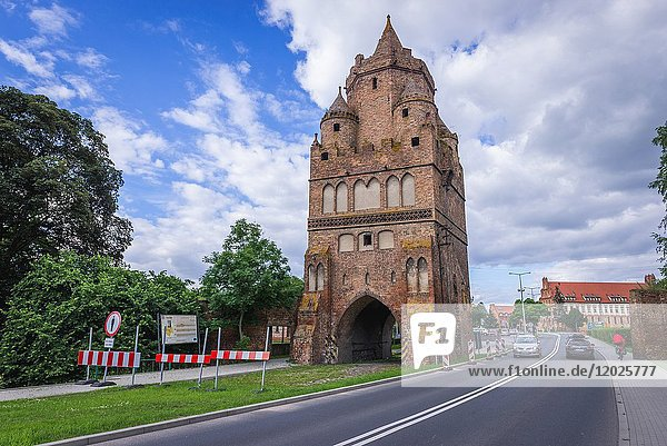 Schwedt Gate (Swiecka Gate) - remains of city walls in Chojna town in Gryfino County  West Pomeranian Voivodeship in Poland.