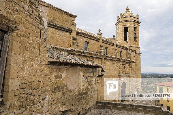 Church of Santa Maria la Mayor  La Fresneda  Matarraña  Teruel province  Aragon  Spain