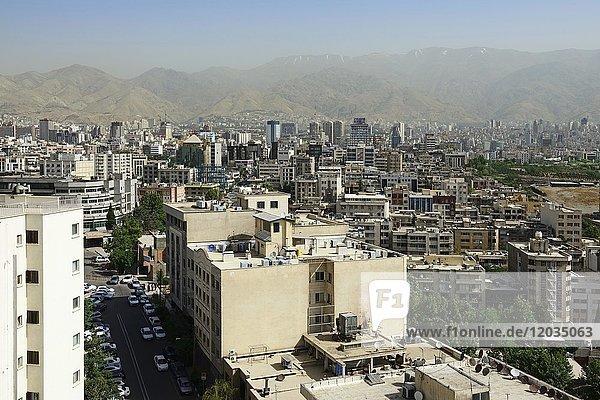 View over Tehran  Iran  Asia