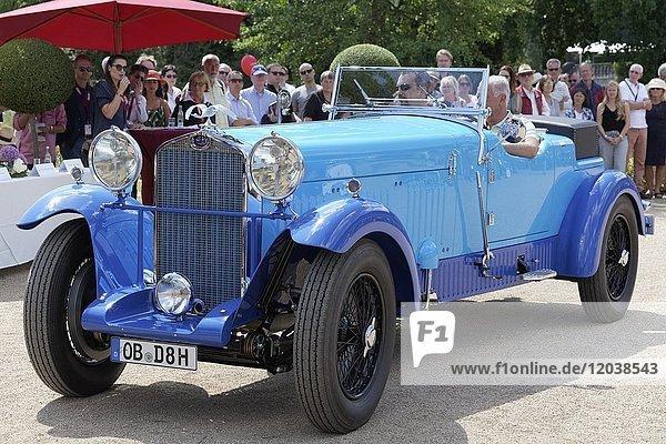 Delage D 8 SS  französisches Luxus-Cabriolet von 1931  Oldtimertreffen  Classic Days Schloss Dyck  Jüchen  Nordrhein-Westfalen  Deutschland  Europa