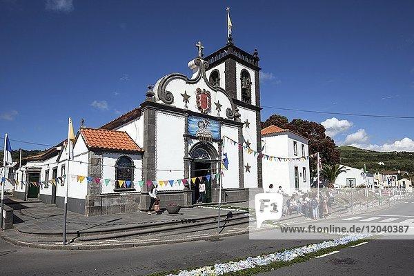 Kirche in Ginetes  Insel Sao Migeul  Azoren  Portugal  Europa