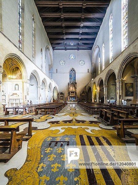 Kirchenschiff  Kirche Chiesa di Gesù Redentore e San Ludovico d'Angiò  Neapel  Kampanien  Italien  Europa