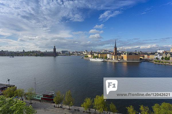 Riddarholmen Church and city skyline from Sodermalm  Stockholm  Sweden  Scandinavia  Europe