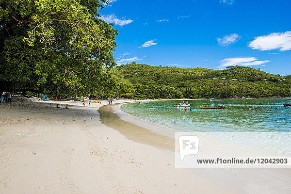 Port Launay beach  Port Launay Marine Park  Mahe  Republic of Seychelles  Indian Ocean  Africa