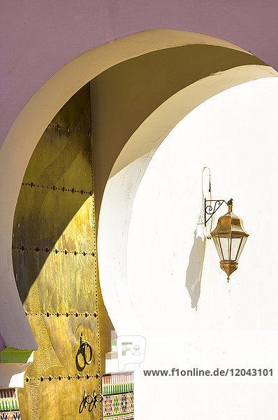 Nordafrika Eingang Torbogen Laterne - Beleuchtungskörper Marrakesch Afrika Kasbah Marokko Moschee