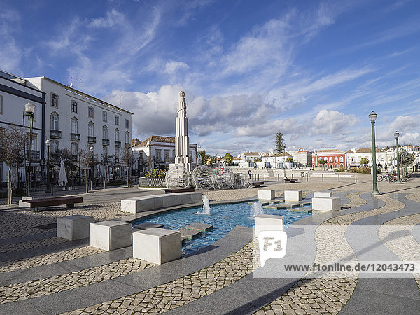 Square of the Republic  Tavira  Algarve  Portugal  Europe