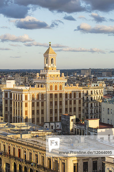 Architecture from an elevated view near the Malecon  Havana  Cuba  West Indies  Central America