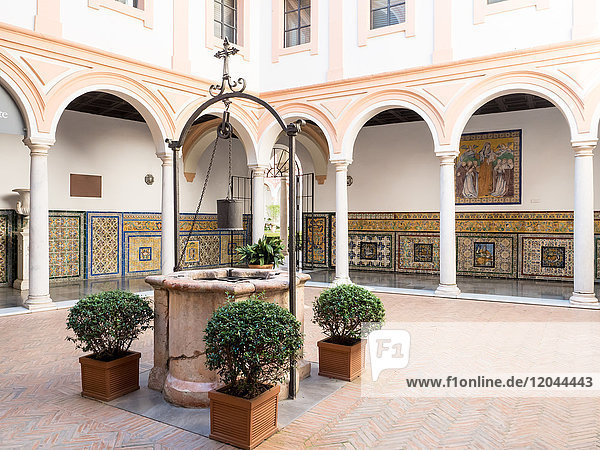 Seville's Museum of Fine Arts housed in the former Convent of Mercy  Seville (Sevilla)  Andalucia  Spain  Europe