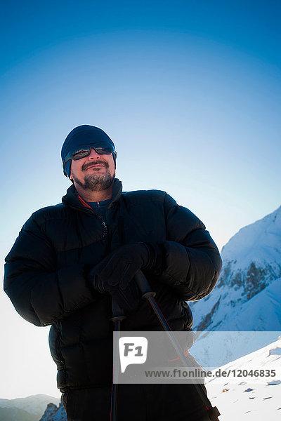 Wandern im Los Andes-Gebirge  Santiago  Chile