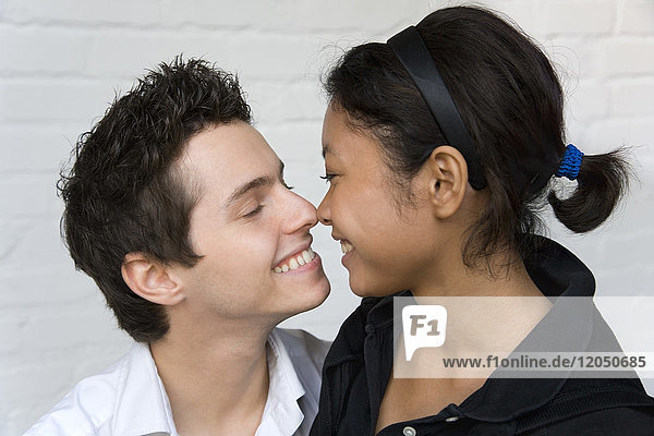 Couple Touching Noses