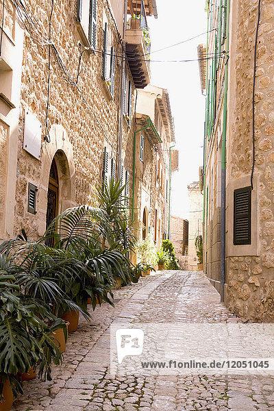 Cobblestone Street  Fornalutx  Mallorca  Spain