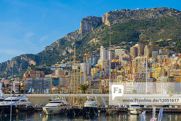 Waterfront With Buildings And Boats In The Harbour; Monte Carlo  Monaco