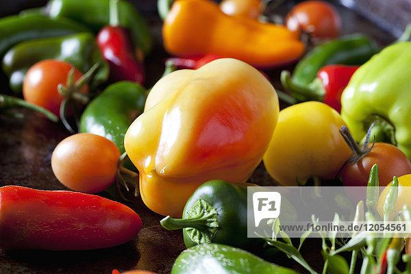 Verschiedene Bio-Gemüse  Nahaufnahme