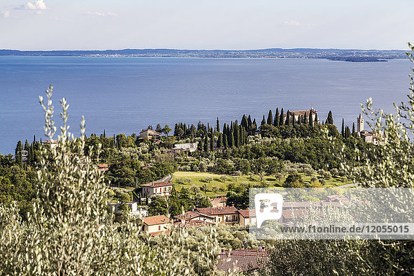Italy  Toscolano-Maderno  view to Lake Garda from above