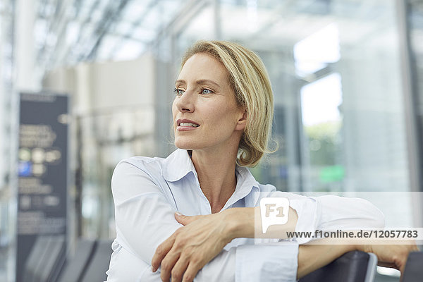Portrait of businesswoman waiting at the airport