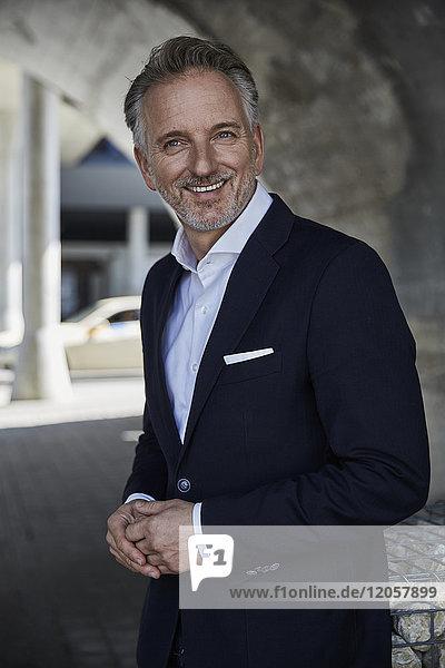 Porträt eines lächelnden Geschäftsmannes im Anzug