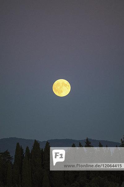 Night landscape in Tuscany