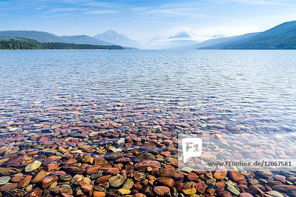Lake McDonald  Glacier National Park  West Glacier  Montana  USA.
