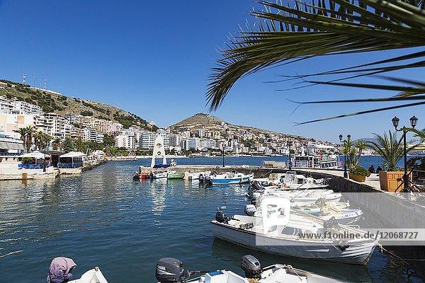 Sarande or Saranda  Sarande District  Albania. Leisure port.
