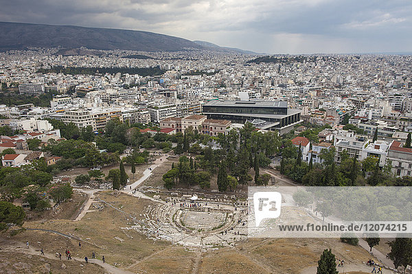 Theatre of Dionysus Eleuthereus  Acropolis  UNESCO World Heritage Site  Athens  Greece  Europe