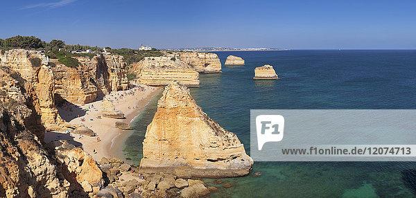 Praia da Marinha beach  Lagoa  Algarve  Portugal  Europe