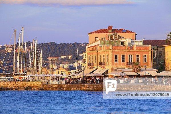 The Venetian Harbour  Chania  Crete  Greek Islands  Greece  Europe
