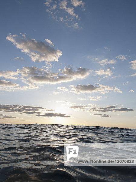 Moody sky over sea