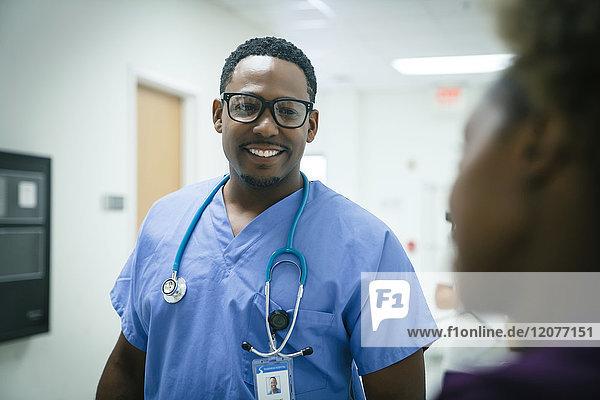 Black nurses talking