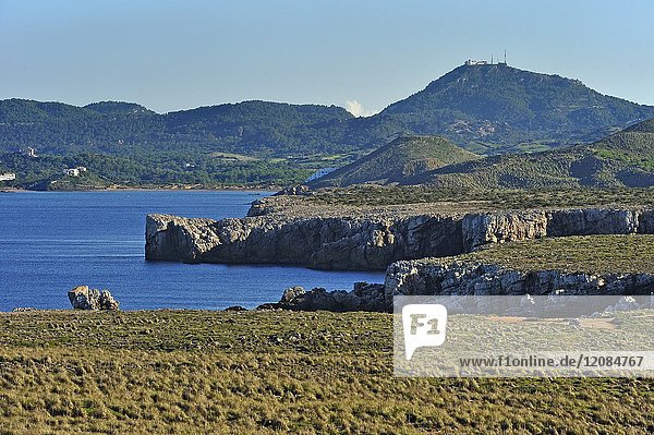 Cape Cavalleria on the North Coast of Menorca  Balearic Islands  Spain  Europe.