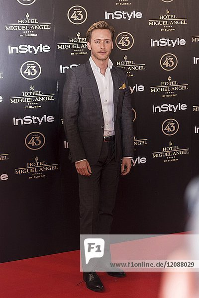 Pablo Rivero attends el jardin de Miguel Angel and In Style beauty night in Madrid  May  24  2017 (Photo by Angel Manzano)..