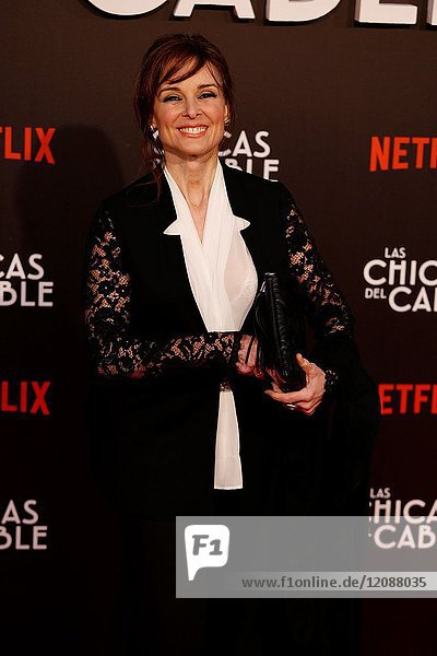 Premiere of the Netflix series Las chicas del cable.Silvia Abascal.Madrid. 27/04/2017.(Photo by Angel Manzano)..