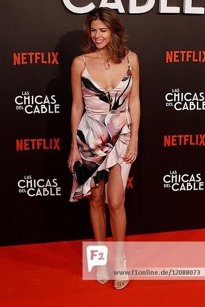 Premiere of the Netflix series Las chicas del cable.Stefany Cayo.Madrid. 27/04/2017.(Photo by Angel Manzano)..