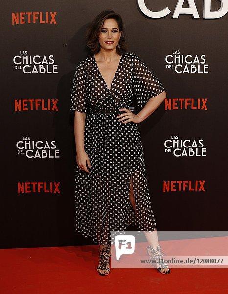 Premiere of the Netflix series Las chicas del cable.Celia Freijeiro.Madrid. 27/04/2017.(Photo by Angel Manzano)..