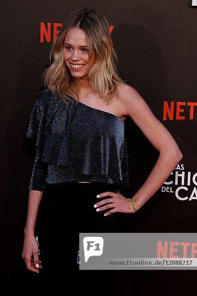 Premiere of the Netflix series Las chicas del cable.Almudena Lapique.Madrid. 27/04/2017.(Photo by Angel Manzano)..