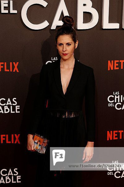 Premiere of the Netflix series Las chicas del cable.Barbara Santa Cruz.Madrid. 27/04/2017.(Photo by Angel Manzano)..