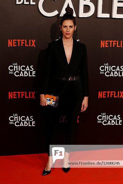 Premiere of the Netflix series Las chicas del cable.Barbara Santa Cruz.Madrid. 27/04/2017.(Photo by Angel Manzano)..