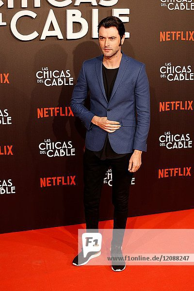 Premiere of the Netflix series Las chicas del cable.Javier Rey.Madrid. 27/04/2017.(Photo by Angel Manzano)..