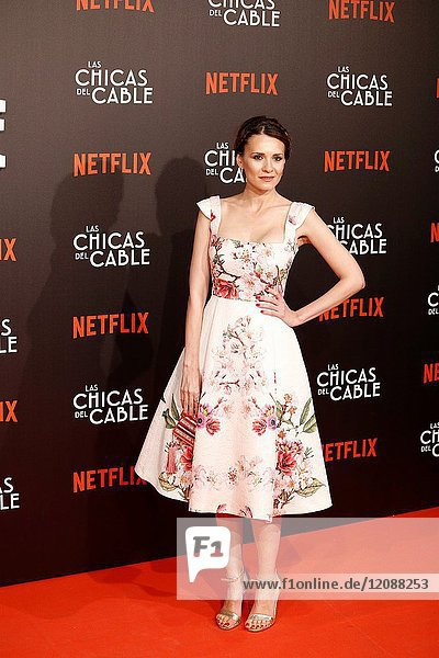 Premiere of the Netflix series Las chicas del cable.Elena Ballesteros.Madrid. 27/04/2017.(Photo by Angel Manzano)..