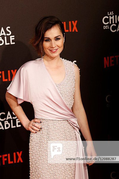 Premiere of the Netflix series Las chicas del cable.Nadia de Santiago.Madrid. 27/04/2017.(Photo by Angel Manzano)..