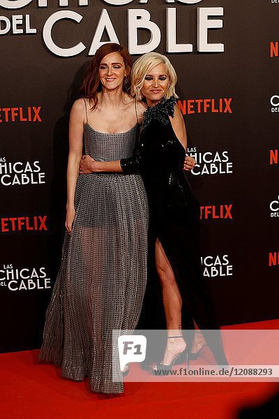 Premiere of the Netflix series Las chicas del cable.Ana Polvorosa y Ana Fernandez.Madrid. 27/04/2017.(Photo by Angel Manzano)..