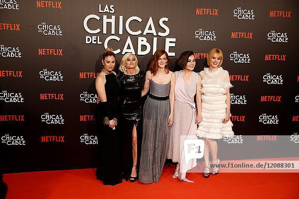 Premiere of the Netflix series Las chicas del cable.Ana Fernandez  Ana Polvorosa  Maggie Civantos  Nadia de Santiago.Madrid. 27/04/2017.(Photo by Angel Manzano)..