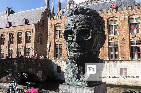 Monument to Frank Van Acker  Bruges  Belgium.