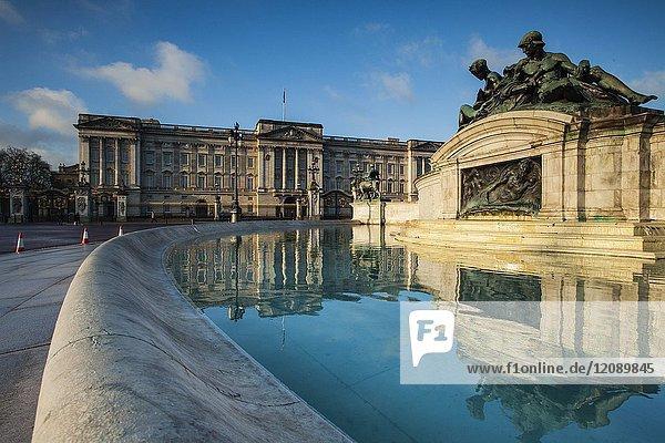 Morning at Buckingham Palace in London  England.