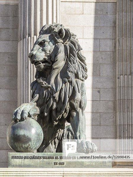 Congress of deputies. Madrid  Spain.