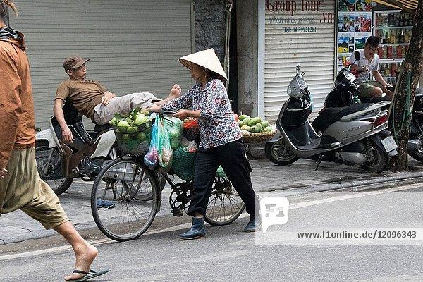 Old Quarter  Hanoi  Vietnam.