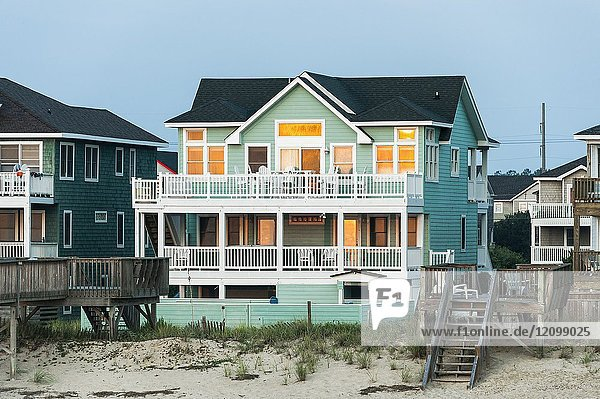 Waterfront Beach house  Nags Head  OBX  Outer Banks  North Carolina  USA.