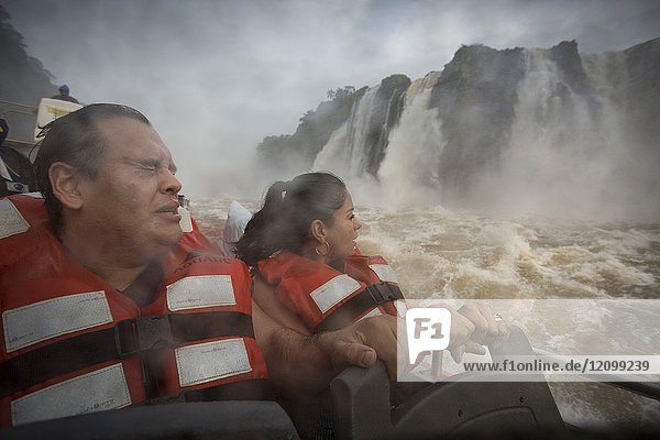 The experience of the 'baptism of the falls' with the immersion in them with the 'gomones' Zodiaks skillfully manned by expert captains  is one of the assets that you should not miss in the Iguazu National Park and Reserve - Iguazu Falls. Argentina